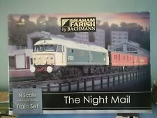 More details for graham farish 'n' gauge 370-130 'the night mail' train set  used