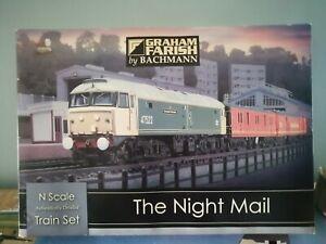 GRAHAM FARISH 'N' GAUGE 370-130 'THE NIGHT MAIL' TRAIN SET  used