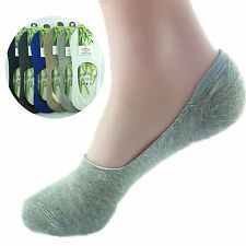 Men Casual Bamboo Fiber Loafer Boat Liner Low Cut No Show Nonslip Sports Socks