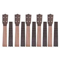 5 Sets Ukulele Neck Fingerboard Fretboard for Concert 23 Inch Ukelele Uke Parts