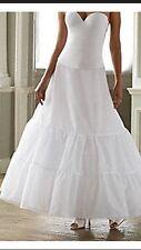Lot Of 10 White A Line Wedding Dress Petticoat