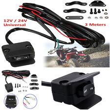 Motorcycle ATV/UTV Winch Rocker Switch Handlebar Control Line Warn Accessories