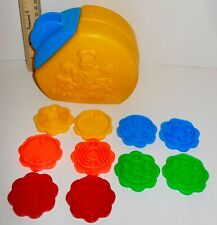 Vintage Fisher Price Counting Cookie Jar With Lid Match Sorter Educational & Fun