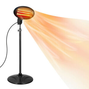 2kw Electric Patio Heater Garden Free Standing Outdoor 2000W - 24HR DELIVERY