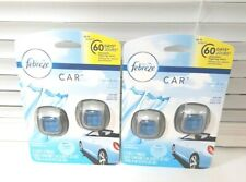 Lot of 2 Febreze Car Air Freshener Vent Clips, Linen & Sky, 2 Countt EAch