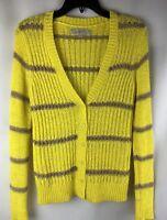 Ann Taylor LOFT, women's Cardigan , Sweater, Size XS, Yellow, D