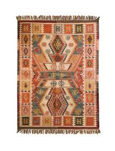 Dakota Handwoven Indian Kilim Pure Wool Area Rug 8'x5'