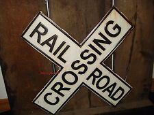 NEW METAL RAILROAD DECOR DISPLAY logo emblem tracks crossing train mancave shop