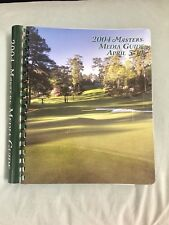 2004 Masters Media Guide Phil Mickelson 2003 Weir Summary