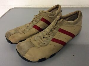 Mens Diesel Casual Shoes / Trainers Used / Bargain Size 11 Beige With Red Stripe