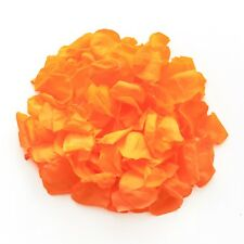Orange natural biodegradable rose petals for wedding confetti / decoration