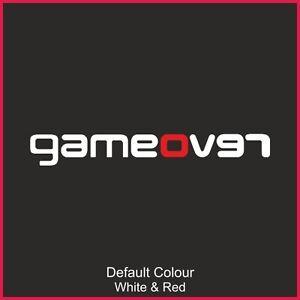 Revo Game Over Decal,Vinyl, Sticker,Car, Funny, Bumper,JDM, Focus,VAG,RS, N2196