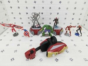 Playmation Marvel Avengers Lot with Figures, Arm Cannon, and Two Portals -TESTED