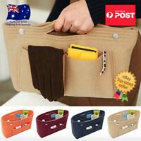 Travel Organiser Handbag Felt Bag Tote Insert Liner Purse Pouch Women Storage AU