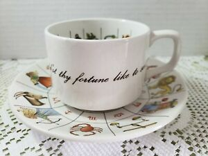 Vintage The Taltos Fortune Telling Teacup Set By Jon Anton Ironstone Made In...