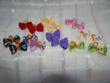 "SO CUTE! ASSORTED LITTLE 1"" DOG Hairbows double PRO-GROOM bands"