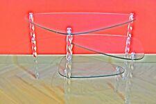 Table basse - Présentoir - verre-plexi - Vintage, 60/70 - Design - Shabby chic