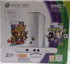 XBOX 360 SLIM BIANCA 4 GB PAL Console Completa + KINECT + K Adventures e Sports