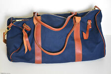 Lee 101 Leather and navy blue canvas Duffle/weekend/gym Bag