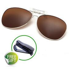 Trendy Clip on Sunglasses Flip Up Clip Mount Polarized Coating Lens Runing UV400