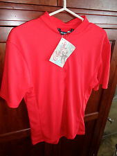 Performance Bicycle Mens Red 1/2 Zip Cycling Jersey Shirt Size Lge NWT