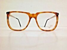 Trevì occhiale da vista vintage 1980 rettangolare grande marrone miele plastica