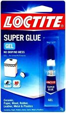 New 2g *LOCTITE* Super Glue Gel Clear NO MESS Wood Rubber Plastic Metal 235495