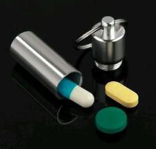 Emergency Pill Box Drug Case Keychain Waterproof Medicine Bottle Container