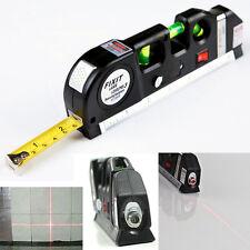 Laser Level Horizon Vertical Measure 8FT Aligner Standard and Metric Ruler