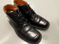 Men's Vintage Loake Cromwell Boots UK 8 Black Leather Shoes Made In England