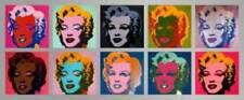 10 Marilyns - Andy WARHOL Monroe 56x134 PopArt Kunstdruck Poster Plakat Bild NEU