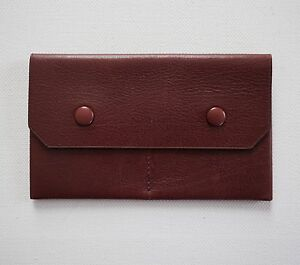 Authentic TOM FORD Burgundy Leather Small COIN HOLDER Wallet Case