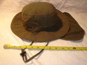 Stetson Rain Hat Wide Brim Nylon W / Neck Flap Medium Packable Cap