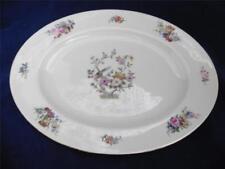 """Vintage Rosenthal Continental Ivory Bavaria 13"""" Oval Platter Bird Floral"""