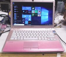 Sony pink laptop VPCCW 21  intel i5 2.4G 4gb memory 500 gb hard drive DVDRW