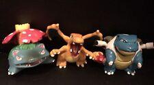 SALE - Charizard Venusaur Blastoise NINTENDO TOMY Pokemon Go 3 Figure Toy Bundle