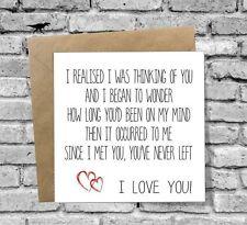 I LOVE YOU Birthday Xmas Greetings Card Anniversary Wife Husband Valentines Day