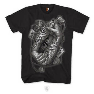 OG Abel Ogabel Tattoo Hands No Love All Hustle Roses Kings Inked Tee Shirt A0437