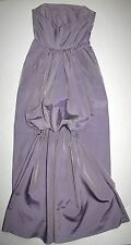 Laundry Shelli Segal Purple Strapless Lng Evening Gown Back Bustle Sz 4 STUNNING