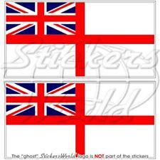 Royal Navy White estandarte, la flota aérea Brazo Bandera Reino Unido británico 130 Mm etiquetas engomadas, calcomanías X2