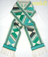 """EMILIO PUCCI green COSMO 100% Cashmere 7.5x69"""" long Fringe scarf NEW Authentic!"""