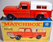 Matchbox RW 06d ford pick-up rojo rara pintadas la placa base