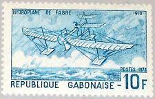 GABON GABUN 1973 506 B 316A Fabre´s Hydroplane Wasserflugzeug Airplane MNH