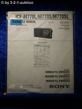Sony Service Manual ICF M770L /M770S /M770SL PLL Synthesized Radio  (#5498)