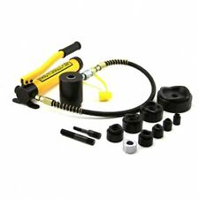 """15T Hole Punch Tool Kit 10 Dies 1/2"""" to 4"""" Driver Hydraulic Knockout Metal Case"""