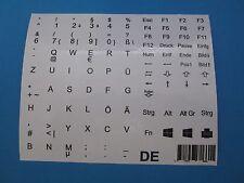 Tastaturaufkleber für Notebook Deutsch weiss für 86 Tasten QWERTZ Ü Ö Ä