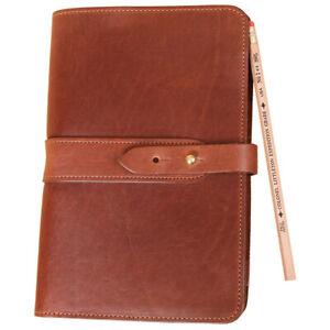 Col. Littleton Full-Grain Leather No.20 Small Portfolio/Padfolio |  Brown
