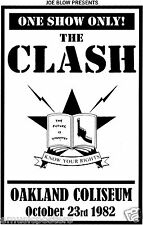 """THE CLASH """"OAKLAND 1982 - KNOW YOUR RIGHTS"""" U.K. COMMERCIAL POSTER -Punk Legends"""
