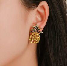 Crystal ananas boucles d'oreilles pendantes à clous ZARA Déclaration bloggers sold out UK