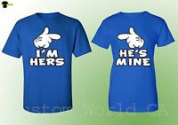 I am Hers He is Mine Matching Couple Shirts Couple Love Tee - Royal